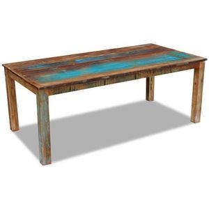 TABLE À MANGER SEULE FIHERO Table de salle à manger Bois de récupératio