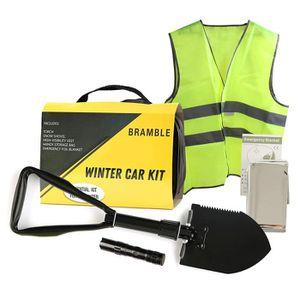 KIT DE SÉCURITÉ 6 Pack Kit Urgence Voiture d'hiver, Kit Securite V