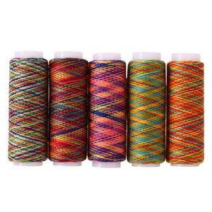 Bobines de fil en polyester Lot de fils /à coudre de couleurs assorties Pour machine /à coudre et couture /à la main. 250 m