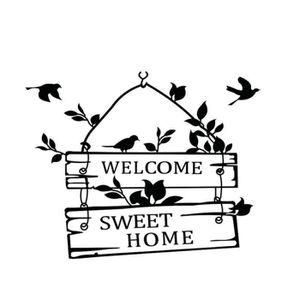 STICKERS Sticker mural lettre de bienvenue anglais sweet ho