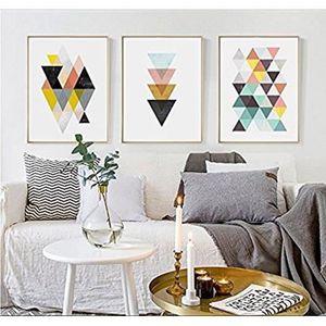 OBJET DÉCORATION MURALE Style Nordique Abstrait Géométrique 3 Pièces Peint