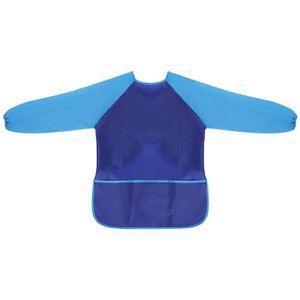 BINBIN2022 Tablier De Peinture Imperm/éable Maternelle 90Yd Bleu A1 sans Manches Antifouling sans Manches pour Enfants