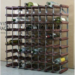 MEUBLE RANGE BOUTEILLE 72 Bouteille Wine Racks bois et métal sous forme d