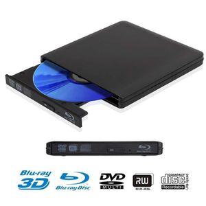 LECTEUR - GRAVEUR EXT. 3D Lecteur Blu-ray USB 3.0 Externe Portable Lecteu