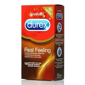 PRÉSERVATIF Durex Préservatifs real feeling x10 préservatifs