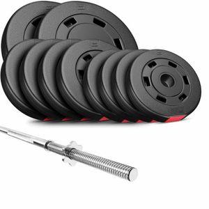 freins haltère longue Musculation Haltères Gym Set Barre d/'haltères 180 cm Ø 50 mm