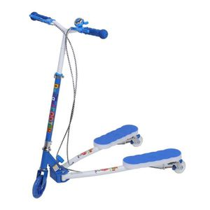 DRAISIENNE Scooter Tricycle Enfants Swing Ciseaux (Bleu)