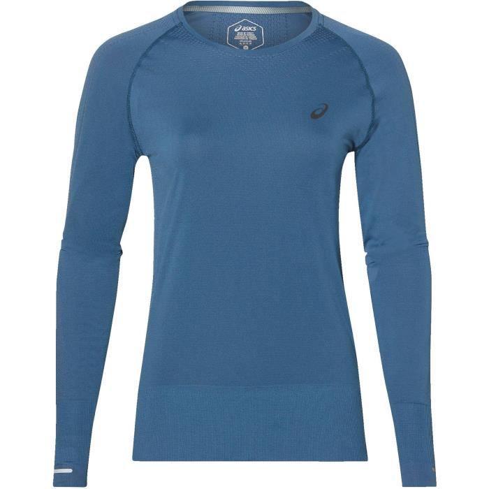 ASICS T-shirt de running Seamless - Femme - Bleu