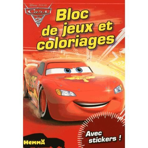 bloc de jeux et coloriages cars 2 achat vente livre disney pixar hemma parution 19 09 2013. Black Bedroom Furniture Sets. Home Design Ideas