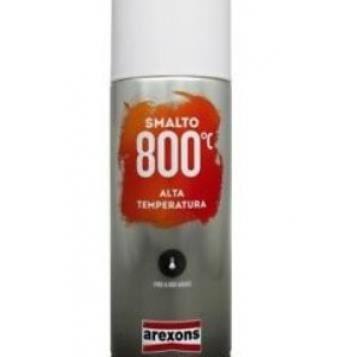 Bombe de peinture haute temperature 800°C Noir - 400ml AREXONS