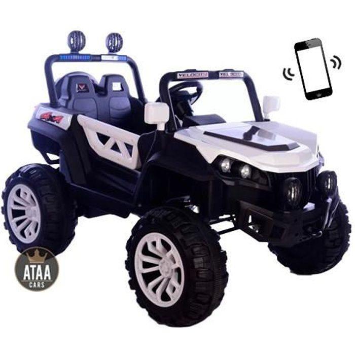 Buggy ATAA Rodeo 4x4 Blanc - Voiture Buggy électrique pour enfant avec batterie et télécommande