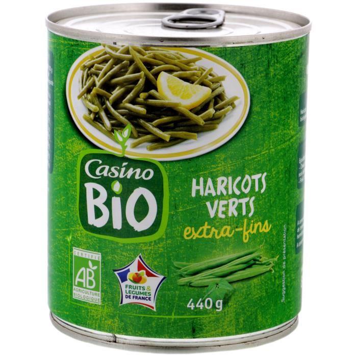 CASINO Haricots Vert en Boite Bio - 440G