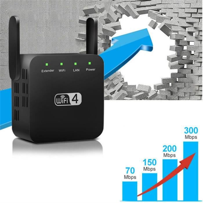 Extension de portée WiFi 300M, amplificateur de signal WiFi et répéteur - amplificateur sans fil Sji Zua 15