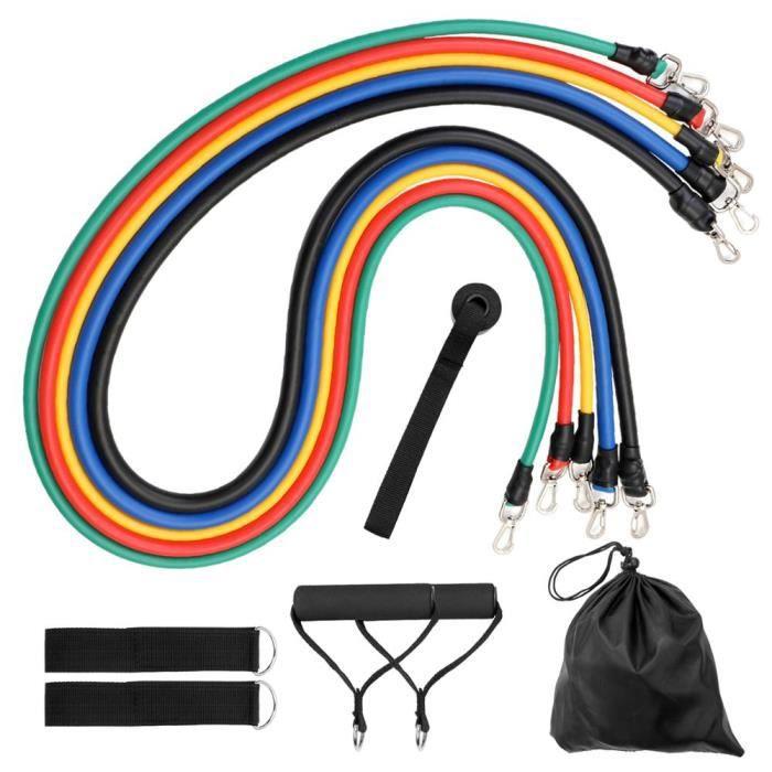 11 pièces Fitness tirer corde bandes de résistance Latex force équipement de gymnastique exe - Modèle: 11 PCS Set 2 - HSJSTLDB05307