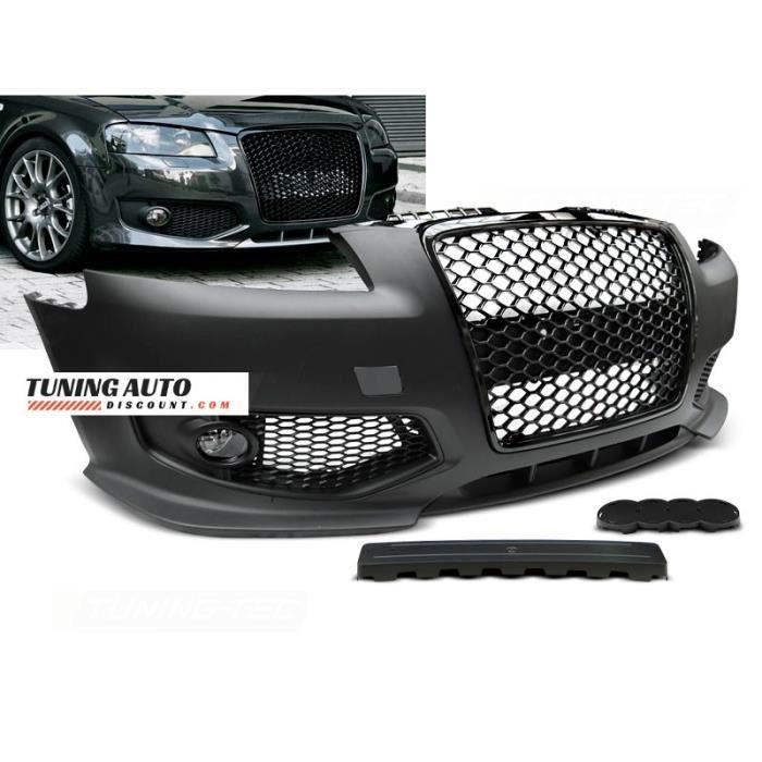 Pare-choc avant Audi A3, 06.05-04.08 rs style noir ( 26584 )
