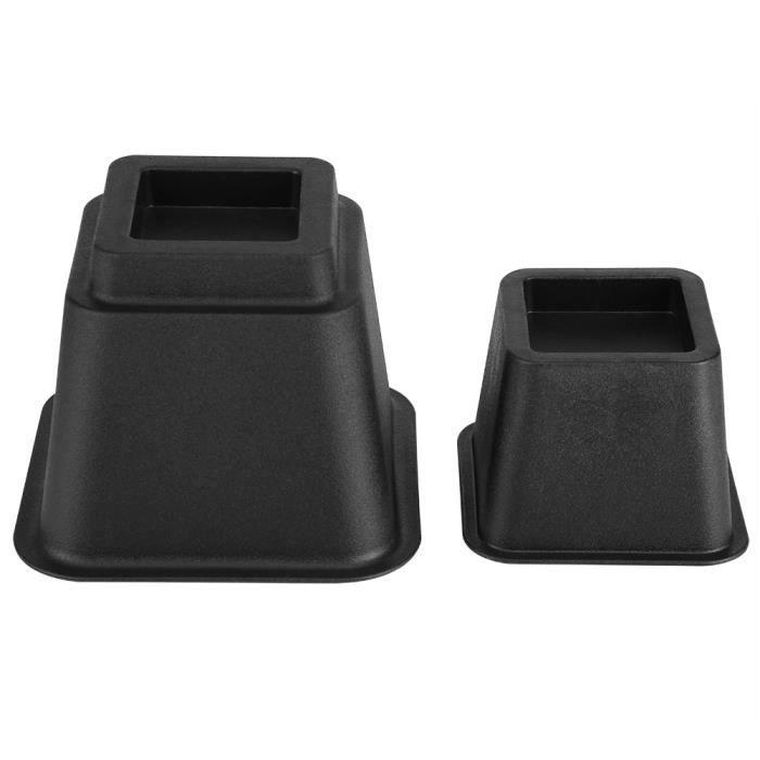 Rehausseurs de Canapé/Lit, 8Pcs Rehausseur Pieds de Lit Supporte Jusqu'à 1200 Livres Lift Rehausseurs de Meuble en Plastique