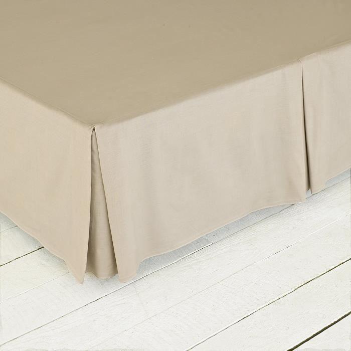 Great Knot, Easy Care percale Range 180 Nombre de base Valance fil feuille (Super King 182 x 200 + 40cm, Blossom Brown)