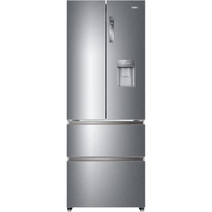 HAIER HB16WMAA - Réfrigérateur Multiportes 422L (301+121) - Froid ventilé - L 70x H190 cm - Inox