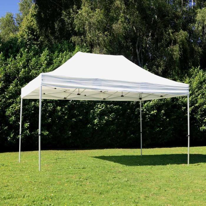 Tente pliante pro 3x4,5 m Blanche