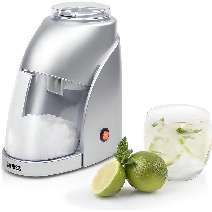 PRINCESS Machine à glace pilée -300 g de galce pilée - Gris