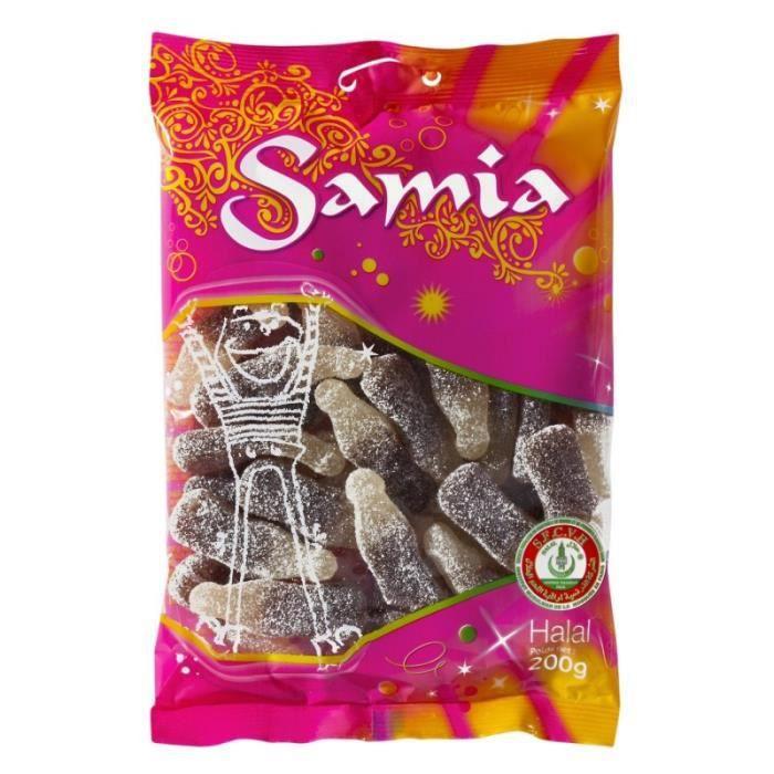 Samia Bonbons Bouteilles Cola Halal 200g (lot de 4)