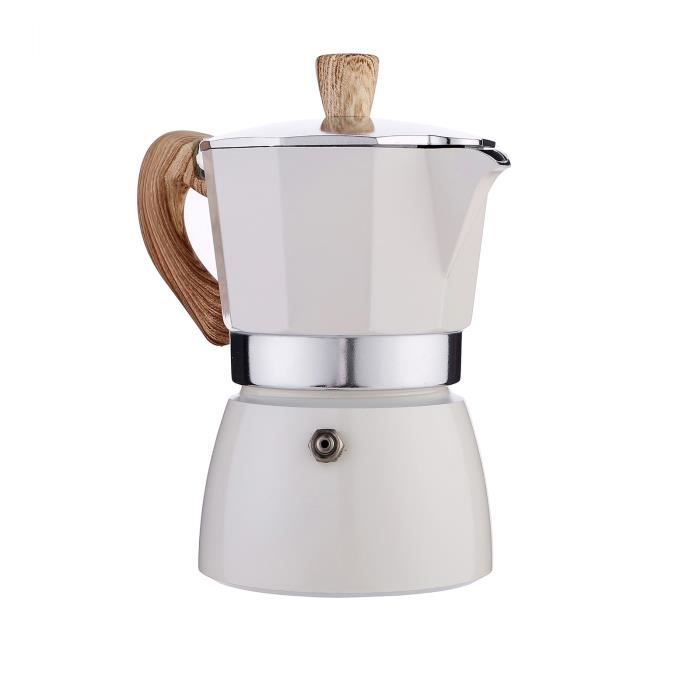 White 300ml -Machine à café Moka 150ml,petite cafetière à main,cuisinière électrique italienne,Pot d'égouttage concentré