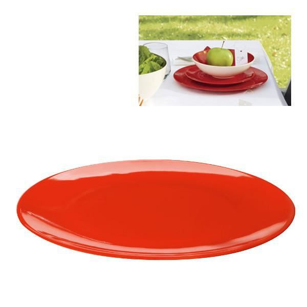 2 assiettes plates rondes colour it rouge achat vente service complet cdiscount. Black Bedroom Furniture Sets. Home Design Ideas