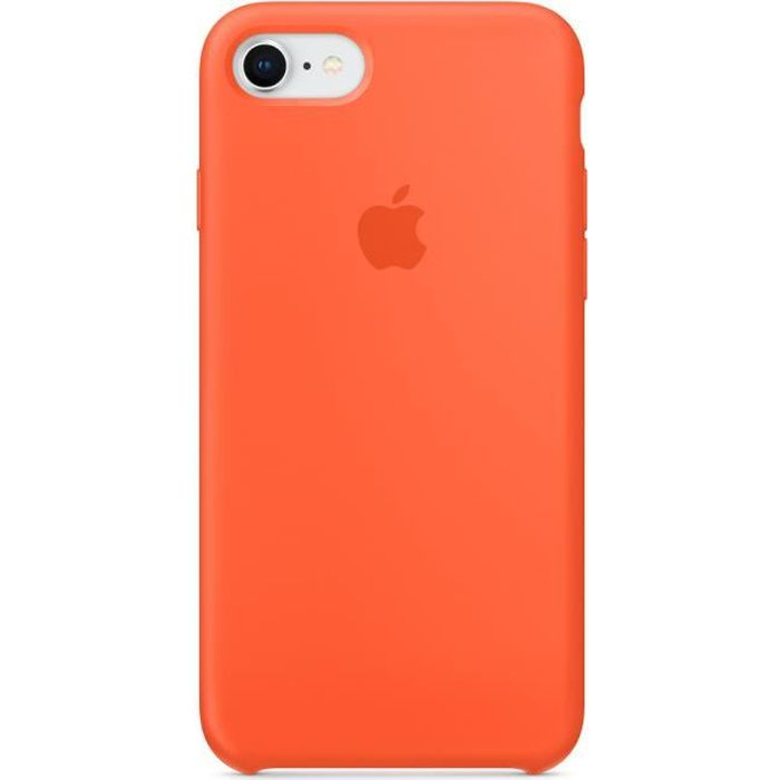 apple coque en silicone pour iphone 7 8 orange c
