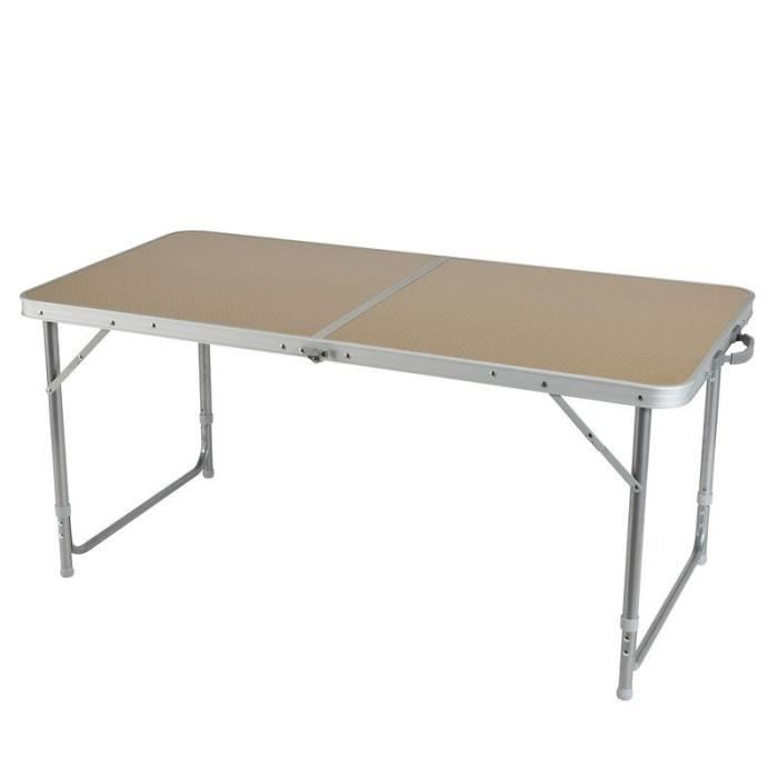 Table de camping alu for Table titanium quadra 6 personnes