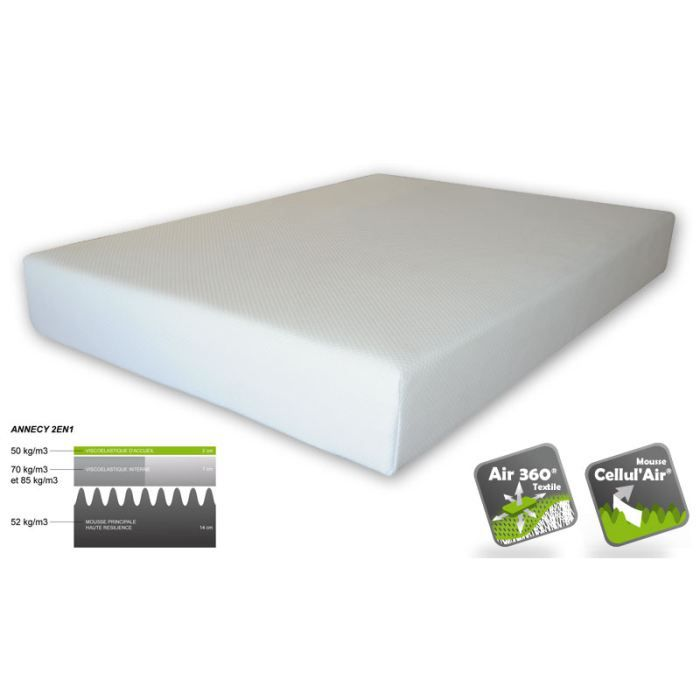 matelas 160x200 m moire de forme annecy achat vente. Black Bedroom Furniture Sets. Home Design Ideas