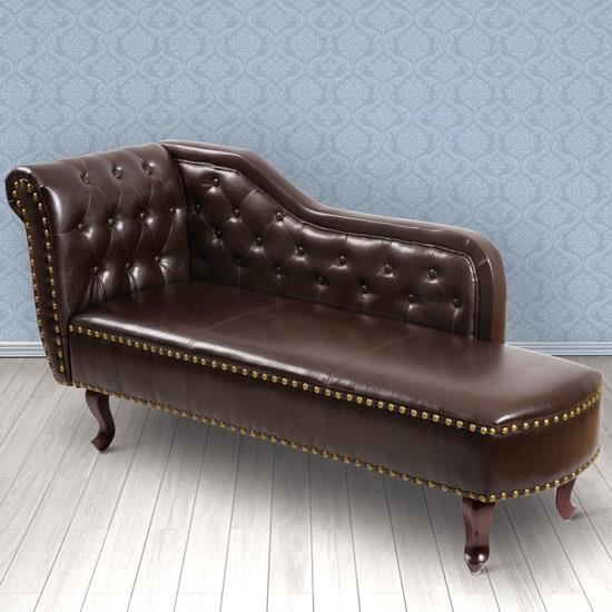 m ridienne chesterfield marron achat vente m ridienne. Black Bedroom Furniture Sets. Home Design Ideas