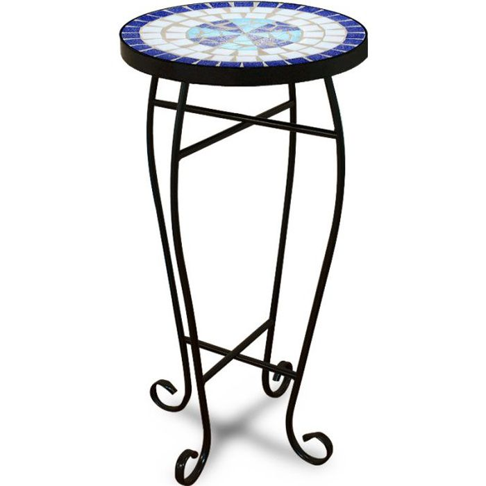 table gu ridon 62x34cm mosaique bleue neptune achat. Black Bedroom Furniture Sets. Home Design Ideas