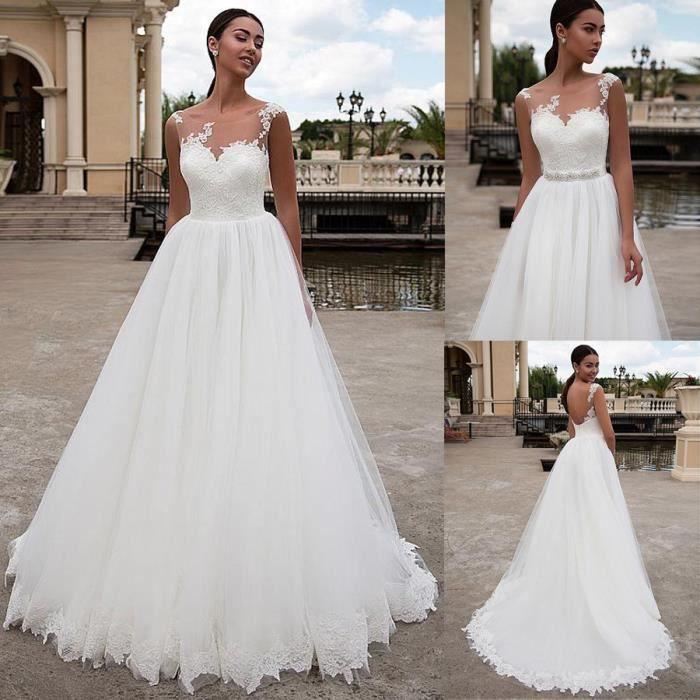 Dégagée une ligne robe de mariée avec ceinture