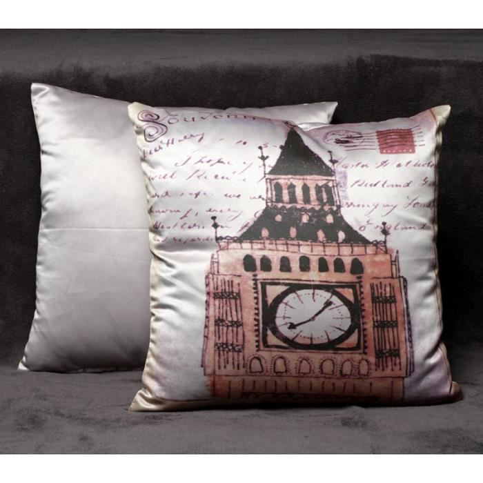 housse coussin d co 40 x 40 cm london achat vente. Black Bedroom Furniture Sets. Home Design Ideas