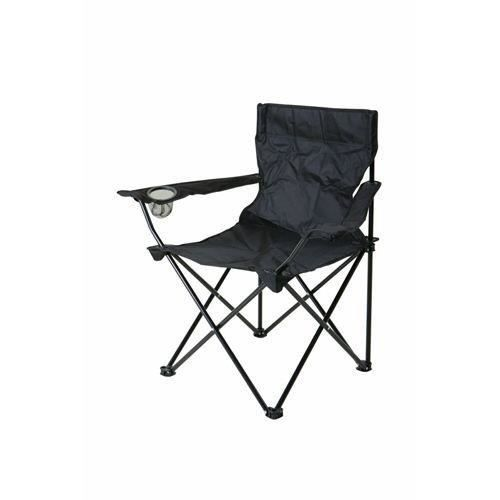 fauteuil chaise de camping pliant hi tech l ger noir. Black Bedroom Furniture Sets. Home Design Ideas