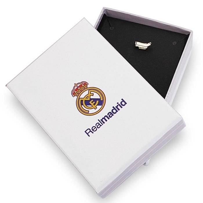 Pendentif écusson Real Madrid or massif 18k 20mm. émail