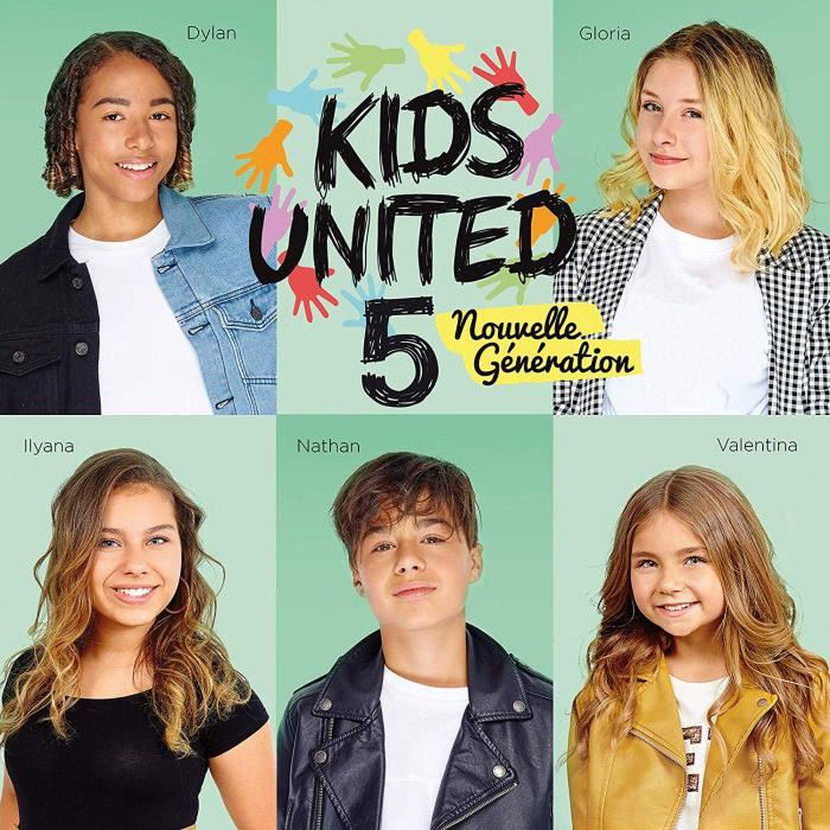 CD VARIÉTÉ FRANÇAISE Kids United 5 nouvelle génération L'hymne de la vi