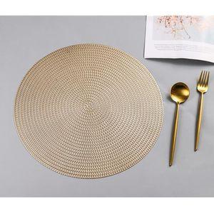 SET DE TABLE 4x Napperon Set de table rond, 38cm,Or clair