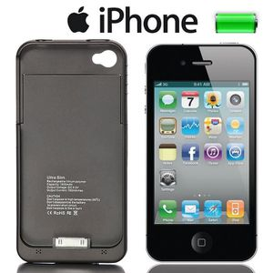 coque rechargeable iphone 4 achat vente coque. Black Bedroom Furniture Sets. Home Design Ideas