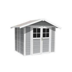 ABRI JARDIN - CHALET abri de jardin deco 4.9 de grosfillex gris clair -