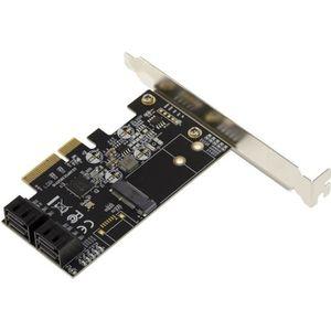 CARTE CONTROLEUR Carte contrôleur PCIe 3.0 4X avec 4 Ports SATA 6G