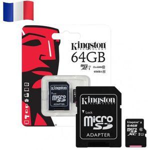 CARTE MÉMOIRE Carte mémoire Micro SD - KINGSTON 64GB 64GO SDHC S