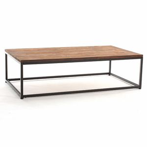 table basse bois metal achat vente table basse bois metal pas cher soldes cdiscount. Black Bedroom Furniture Sets. Home Design Ideas