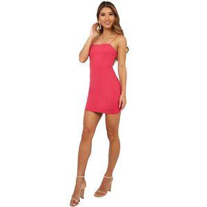 ROBE DE PLAGE ête Robe Femmes Casual sexy camisole Mode Bodycon