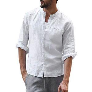 DOREANSE Hommes Chemise manches longues Halbkragen Slim Fit Sport shirt US M-XXL