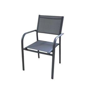 Ensemble table et chaise de jardin Ensemble table ALICE 140/240 gris + 6 fauteuil DUC