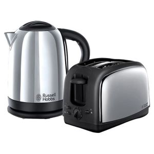 GRILLE-PAIN - TOASTER Russell Hobbs 21830 Lincoln Twin Pack 3000W Bouill