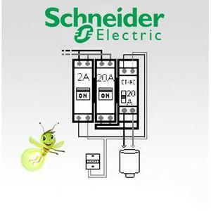 DISJONCTEUR Option chauffe-eau électrique pour tableau Schneid
