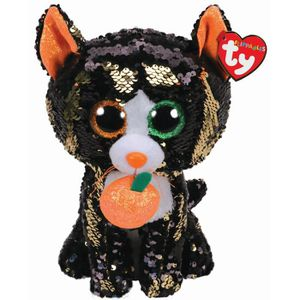 PELUCHE TY TY36784 Flippables medium Jinx le chat hallowee