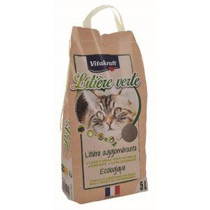 SAC À LITIÈRE VITAKRAFT Litière verte - 5 L - Pour chat